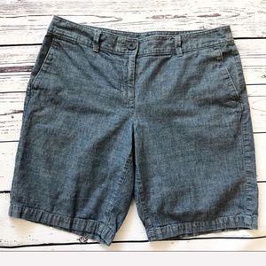 ☀️LOFT chambray shorts